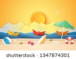 summer time   sea and beach... | Shutterstock .eps vector #1347874301