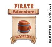 cute cartoon icon wooden barrel ...