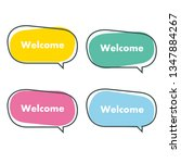 simple welcome banner vector... | Shutterstock .eps vector #1347884267