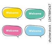 simple welcome banner vector... | Shutterstock .eps vector #1347884267