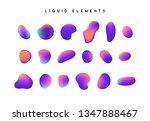 gradient iridescent shapes. set ... | Shutterstock .eps vector #1347888467