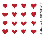heart icons set isolated on... | Shutterstock .eps vector #1347905651