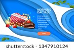 mother's day sale  modern blue...   Shutterstock .eps vector #1347910124