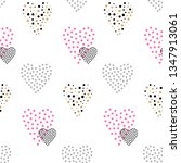 valentines day seamless pattern ... | Shutterstock . vector #1347913061