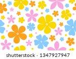flower pattern seamless... | Shutterstock .eps vector #1347927947