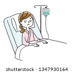 young woman being hospitalized | Shutterstock .eps vector #1347930164