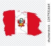 flag of peru from brush strokes ...   Shutterstock .eps vector #1347931664
