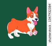 dog corgi vector illustration | Shutterstock .eps vector #1347932384