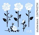 flower icon. rose silhouettes...   Shutterstock .eps vector #1347943754