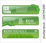 eco banner set | Shutterstock .eps vector #134795285