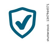 security approval check icon.... | Shutterstock .eps vector #1347964571