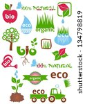 set of colorful bio and eco... | Shutterstock .eps vector #134798819