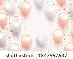 balloons background white and... | Shutterstock .eps vector #1347997637