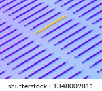 yellow pencil extract out from... | Shutterstock . vector #1348009811