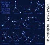 vector set of constellations.... | Shutterstock .eps vector #1348019234