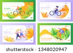 set of concept of landing pages ... | Shutterstock .eps vector #1348020947