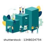 vector business illustration ...   Shutterstock .eps vector #1348024754