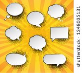vintage speech bubble with... | Shutterstock .eps vector #1348035131