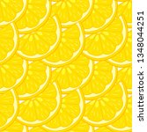seamless pattern of lemon... | Shutterstock .eps vector #1348044251