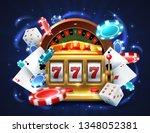 casino 777 slot machine.... | Shutterstock .eps vector #1348052381