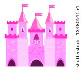 fairy tale princess castle with ...   Shutterstock .eps vector #1348054154