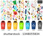waste sorting. big collection... | Shutterstock .eps vector #1348055834