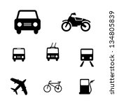 set of simple vector transport... | Shutterstock .eps vector #134805839