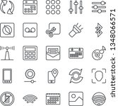 thin line icon set   no mobile...
