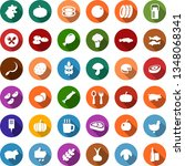 color back flat icon set  ... | Shutterstock .eps vector #1348068341
