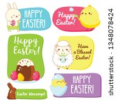easter gift tags with...   Shutterstock . vector #1348078424