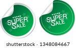super sale stickers | Shutterstock .eps vector #1348084667
