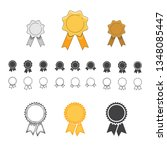 badge with ribbons icon. set of ... | Shutterstock .eps vector #1348085447