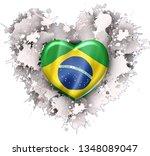 love my country brazil | Shutterstock . vector #1348089047