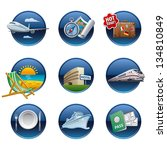 travel icon set buttons | Shutterstock .eps vector #134810849