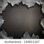 grunge metal background | Shutterstock . vector #134811167