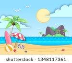 sea or ocean landscape  sea...   Shutterstock .eps vector #1348117361