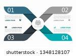 infographic design template... | Shutterstock .eps vector #1348128107