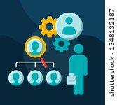 recruiting process flat concept ... | Shutterstock .eps vector #1348132187