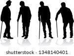 old men silhouette  vector work. | Shutterstock .eps vector #1348140401