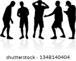 black silhouette of a man. | Shutterstock .eps vector #1348140404