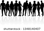 group of people. crowd of... | Shutterstock .eps vector #1348140407