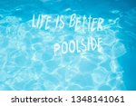 surface of  pool water with...   Shutterstock . vector #1348141061