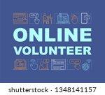 online volunteer word concepts...