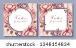 set of vector botanical banners ... | Shutterstock .eps vector #1348154834