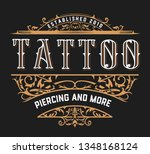 vintage template with floral... | Shutterstock .eps vector #1348168124
