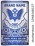 vintage vodka label for packing.... | Shutterstock .eps vector #1348168127