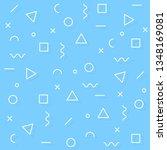 memphis vector background with... | Shutterstock .eps vector #1348169081
