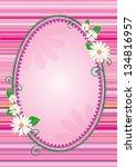 easter egg shaped frame or...   Shutterstock . vector #134816957
