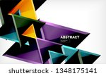 triangular low poly background... | Shutterstock .eps vector #1348175141