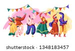 india festival. celebrate... | Shutterstock .eps vector #1348183457